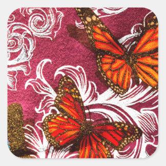 Butterfly Swirl Square Sticker
