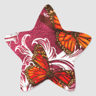 Butterfly Swirl Star Sticker
