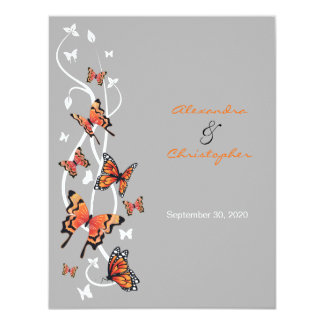 Butterfly & Swirls Wedding Announcement 2