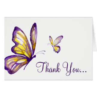 Butterfly Thank You Cards | Watercolor