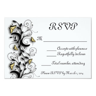 Butterfly Theme 3.5x5 Paper Invitation Card