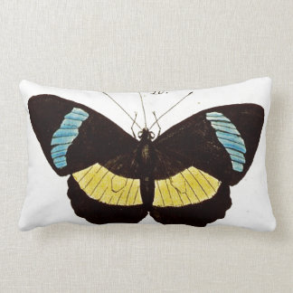 Butterfly Throw Pillow in Black, Aqua & Yellow
