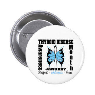 Butterfly Thyroid Disease Awareness Month Pins