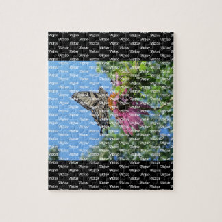 Butterfly (Tiger Swallowtail) stylized level 2 Jigsaw Puzzle