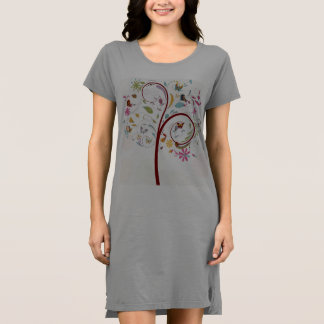 Butterfly Tree Alternative Apparel T-Shirt Dress