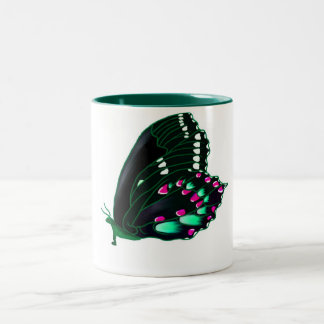butterfly Two-Tone coffee mug