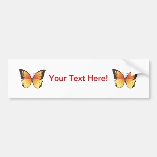 Butterfly: Vector Illustration: Bumper Sticker