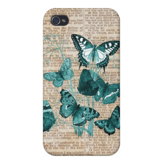 Butterfly & Vintage Scripture iPhone Case