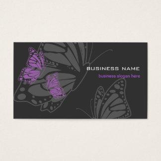 Butterfly Violet & Dark Elegant Modern Business Card
