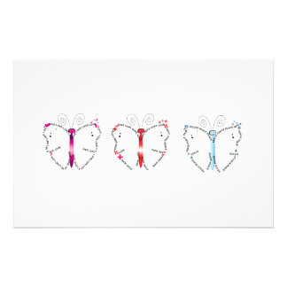 Butterfly Virtues Stationery Paper