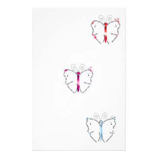 Butterfly Virtues Stationery Design