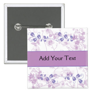 Butterfly Vision in Lilac Purple 2 Inch Square Button