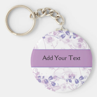Butterfly Vision in Lilac Purple Keychain