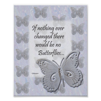 Butterfly Wall Art with Quote