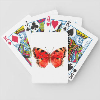 Butterfly Watercolor Red Butterfly Bicycle Playing Cards