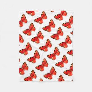 Butterfly Watercolor Red Butterfly Fleece Blanket