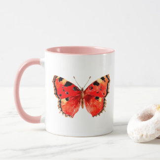 Butterfly Watercolor Red Butterfly Mug