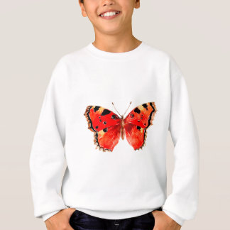 Butterfly Watercolor Red Butterfly Sweatshirt