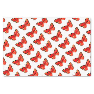 Butterfly Watercolor Red Butterfly Tissue Paper