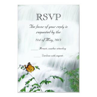 Butterfly & Waterfall Wedding RSVP Card