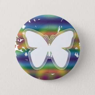 Butterfly waves 2 inch round button