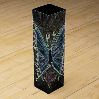 Butterfly Web Wine Boxes