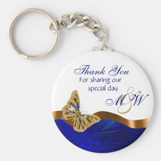 Butterfly wedding favor engagement anniversary basic round button keychain