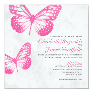 Butterfly Wedding Invitations Personalized Announcements