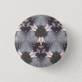 Butterfly Wing Geometric Pattern Badge 1 Inch Round Button