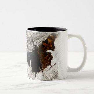 Butterfly Wings and Shadows Two-Tone Coffee Mug