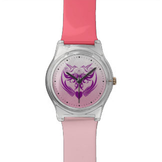 Butterfly Wings Hummingbird Flower purple Wristwatches