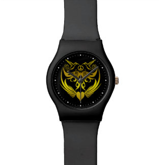 Butterfly wings hummingbirds Peace Gold Watches