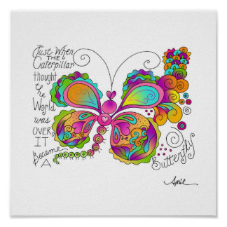 BUTTERFLY WINGS Poster by April McCallum