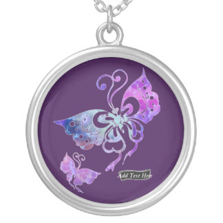 Butterfly Wings Silver Plated Necklace