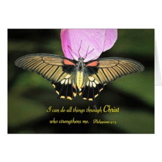 Butterfly with Christian Verse Card