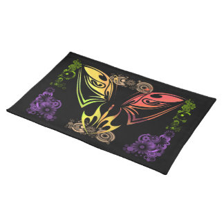 """Butterfly with Flowers 20"""" x 14"""" American MoJo Pla Placemats"""