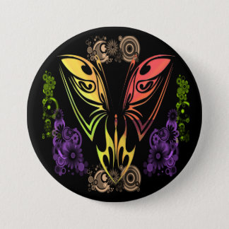 Butterfly with Flowers Button