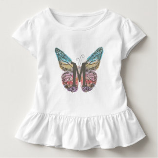 Butterfly with Letter M Toddler T-shirt