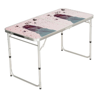 Butterfly Woman Beer Pong Table