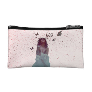 Butterfly Woman Cosmetic Bag