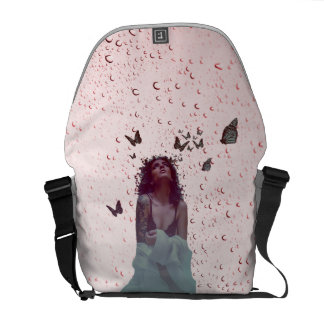 Butterfly Woman Courier Bag