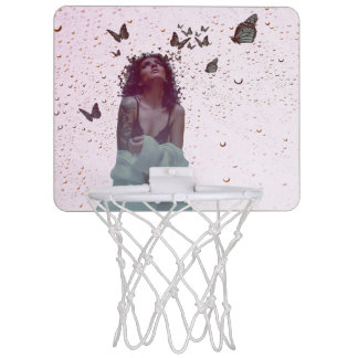 Butterfly Woman Mini Basketball Hoop