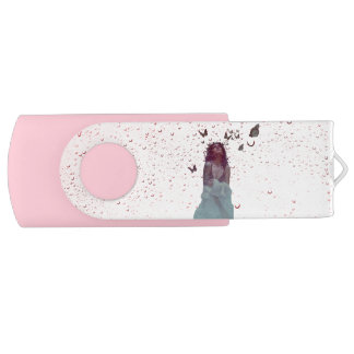 Butterfly Woman USB Flash Drive