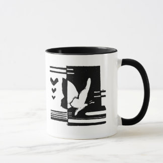 Butterfly Woodcut Cup
