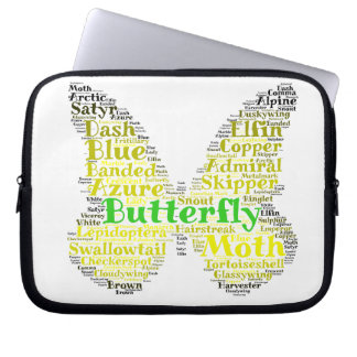 Butterfly Word Design Sleeve Laptop Computer Sleeves