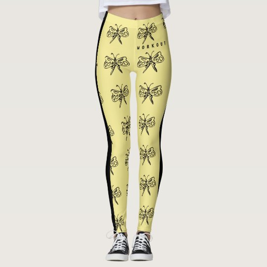 Butterfly Workout Leggings by Julie Everhart