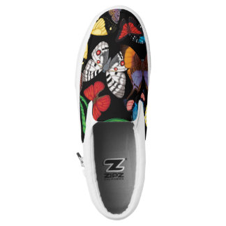 Butterfly World Black Slip-On Sneakers