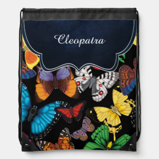 Butterfly World Customized Drawstring Bag