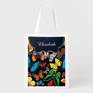 Butterfly World Customized Reusable Grocery Bag