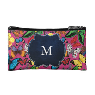 Butterfly World Monogram Cosmetic Bag
